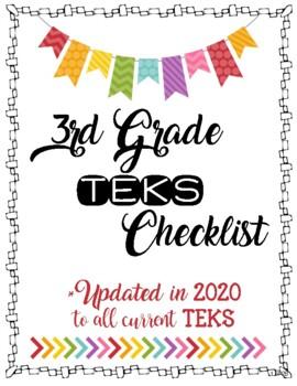 3rd Grade TEKS Checklist **Vertical Format**