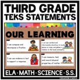 Third Grade TEKS Can and Will Standards Statements Bundle
