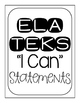 "3rd Grade TEKS ""I Can"" Posters Black/White- All Core Subjects"