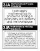 "3rd Grade TEKS ""I Can"" Posters Black/White- Math"