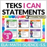 3rd Grade TEKS I Can Statements Bundle   Printable Posters
