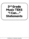3rd Grade TEKS I Can Statements (Music