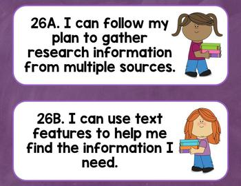 3rd Grade TEKS I Can Statements: Reading-Language Arts