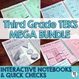 3rd Grade TEKS Interactive Notebook & Quick Check MEGA BUNDLE