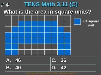 3rd Grade TEKS Math 3.11(C) Use models of square units to determine area.