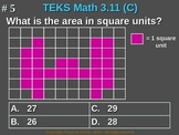 3rd Grade TEKS Math 3.11(C) Use models of square units to
