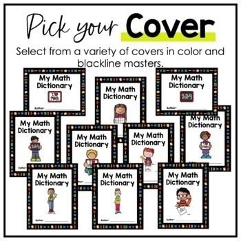 3rd Grade TEKS Math Vocabulary - My Math Dictionary - PLC Tools - STAAR Aligned