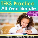 3rd Grade TEKS Practice Progress Monitoring All Year Bundle 424 STAAR Questions