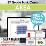 3rd Grade TEKS TASK CARDS ~ AREA ~ 3.6C 3.6D STAAR Aligned