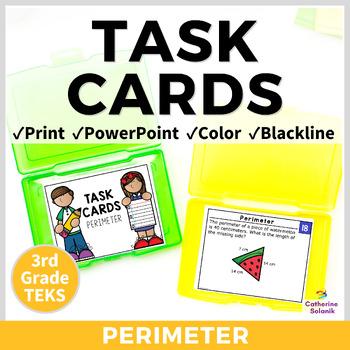 3rd Grade TEKS TASK CARDS ~ PERIMETER ~ 3.7B STAAR Aligned