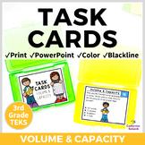 3rd Grade TEKS TASK CARDS ~ VOLUME & CAPACITY ~ 3.7D 3.7E STAAR Aligned