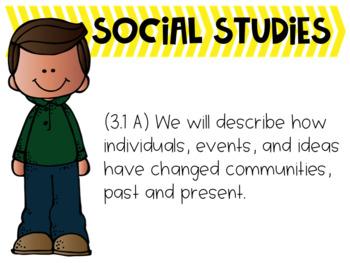 3rd Grade TEKS We will... Statements