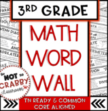 3rd Grade Math Word Wall | TN Ready & Common Core Aligned