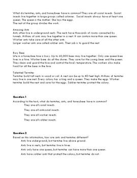 3rd Grade TN Ready TCAP ELA Practice Test A Directions