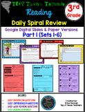 3rd Grade TX Tornado Daily Reading Spiral Review PART 1 Google & Paper Version
