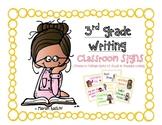 3rd Grade: Teacher's College WRITING Unit Signs