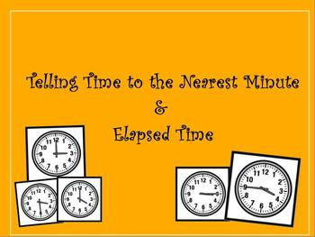 3rd Grade Telling Time & Elapsed Time Promethean Flip chart CCSS 3.MD.1