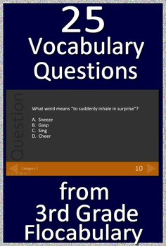 3rd Grade TerraNova Test Prep - English and Reading Vocabulary Review Game