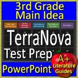 3rd Grade TerraNova Test Prep Main Idea and Text Evidence Game - Terra Nova