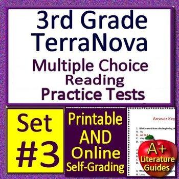 3rd Grade TerraNova Test Prep Practice Tests - Print AND Self-grading Terra Nova