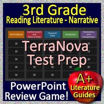 3rd Grade TerraNova Test Prep Reading Literature Review Game Terra Nova