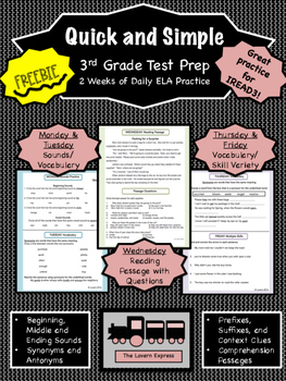 3rd Grade Test Prep FREEBIE