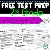 3rd Grade Test Prep FREEBIE Strategy Group Reading Lessons