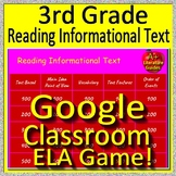 3rd Grade Test Prep GOOGLE CLASSROOM GAME - Reading Informational Text - ELA