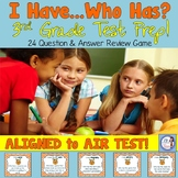 3rd Grade Test Prep I Have Who Has Review Game (aligned to AIR)