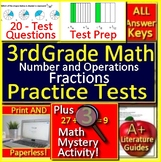 3rd Grade Math Number + Operations - Fractions Test Prep Math Mystery GOOGLE!