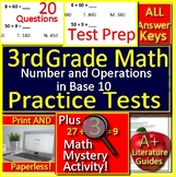 3rd Grade Math Number + Operations in Base 10 Test Prep Math Mystery GOOGLE