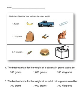 3rd Grade Math Test Prep Printable Bundle Pack ~ Measurement & Data ~ CCSS
