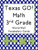 3rd Grade Texas GOMath Vocabulary Cards