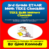 3rd Grade Math TEKS Checklist, Great for Teacher Records and Math Folders