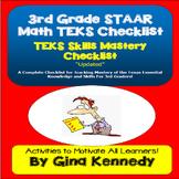 3rd Grade MATH STAAR TEKS Checklist!