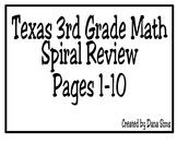 3rd Grade Texas Math: Daily Spiral Review Days 1-10