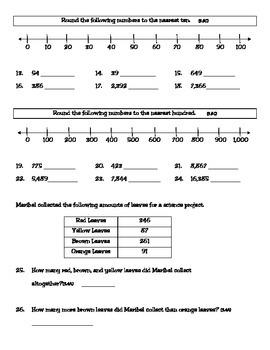 3rd Grade Texas Math Homework #4