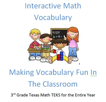 3rd Grade Texas Math Vocabulary Interactive Journal