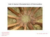 3rd Grade Texas SS Human Characteristics of Communities for Texas (Unit 4)
