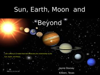 3rd Grade Texas Science Investigating the Solar System (Unit 6)