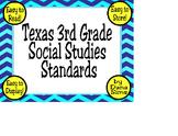 3rd Grade Texas Social Studies (TEKS) Standards (Posters)