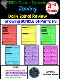 3rd Grade Texas Tornado Daily Reading Spiral Review Growin
