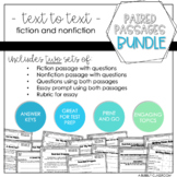 Paired Passages Reading and Writing Bundle