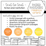 Paired Passages Reading and Writing Set #1