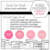 Paired Passages Reading and Writing Set #2