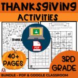 3rd Grade Thanksgiving Activities BUNDLE Google Classroom