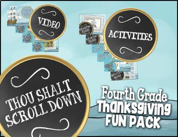 3rd Grade Thanksgiving Activities ★ Thanksgiving Math Activities & More w/ Video