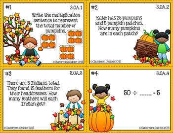 3rd Grade Thanksgiving Math (Common Core Aligned)