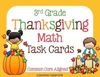 3rd Grade Thanksgiving Math (Common Core Aligned)