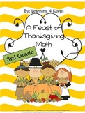 3rd Grade Thanksgiving Math Worksheets